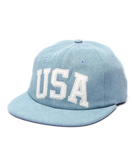 Ur-ID 224021 HUF - Men Blue Huf Usa Denim 6 Panel Hat