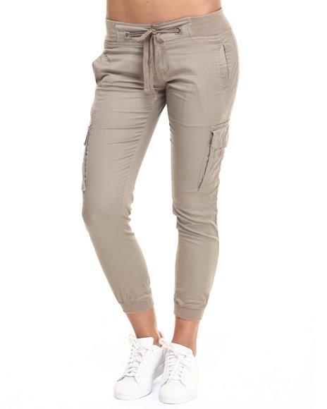 Ur-ID 223928 Basic Essentials - Women Khaki Twill Cargo Jogger Pant