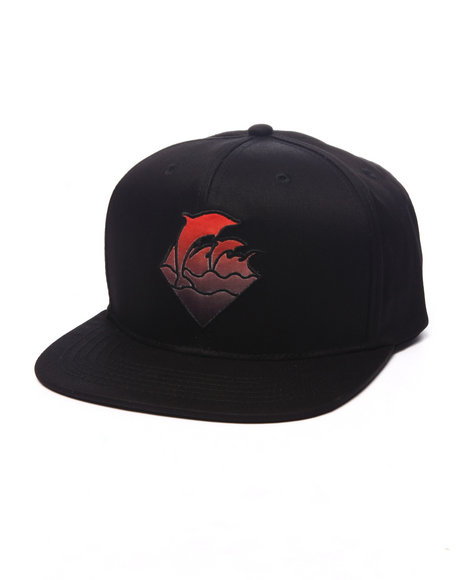 Ur-ID 223992 Pink Dolphin - Men Black Gradient Waves Snapback Hat