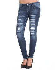 Bottoms - Rip Repair Slashes Denim Skinny Jean