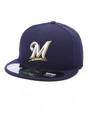 Hats - Milwaukee Brewers Authentic On Field 59FIFTY Fitted Cap