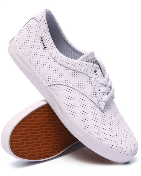 Ur-ID 224039 HUF - Men White Sutter White Perf Sneakers