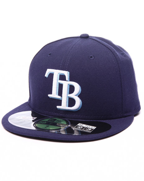New Era - Men Dark Blue Tampa Bay Rays Authentic On-Field 59Fifty Fitted Cap