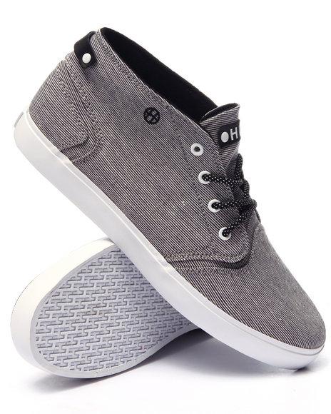 Ur-ID 224043 HUF - Men Black Mercer Black Woven Sneakers