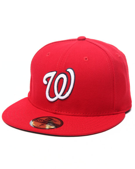 Ur-ID 224044 New Era - Men Red Washington Nationals Authentic On-Field 59Fifty Fitted Cap