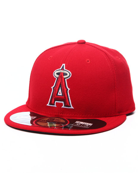 Ur-ID 224049 New Era - Men Red Anaheim Angels Authentic On Field 59Fifty Fitted Cap
