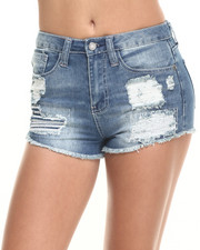 Women - Rampage Nikki Short Short w/ Heavy Destruction and Fray Hem