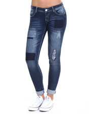 Bottoms - Stretch Patriotic Knit Denim Skinny Jean