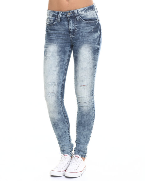 Rampage - Women Medium Wash Wes High Rise Super Skinny Jean