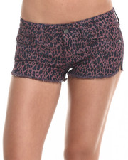 Women - Rampage Lexi Short Short w/ Fray Hem and Side Slit