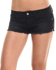 Shorts - Rampage Lexi Short Short w/ Fray Hem and Side Slit