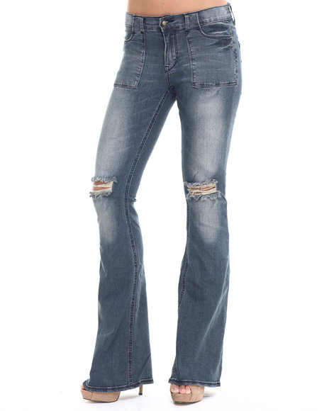 Lee Cooper - Women Blue Angie Flare Jean