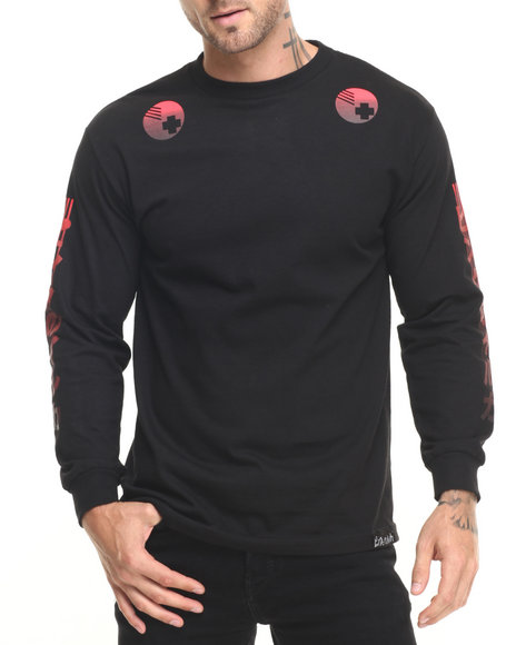 Pink Dolphin - Men Black Pulse L/S Tee
