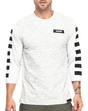 Men - STRIPE CAMO 3/4 - SLEEVE RAGLAN TEE