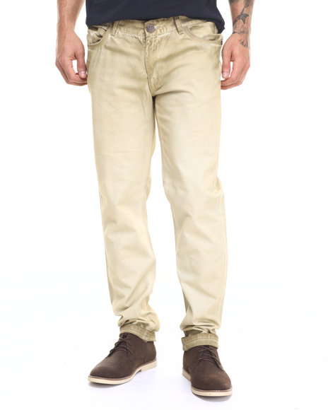 Ur-ID 224109 Lee Cooper - Men Khaki Khaki Shadow Wash Twill Pant