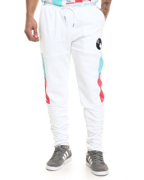 Ur-ID 224131 Pink Dolphin - Men White Ball Sprint Jogger Pants