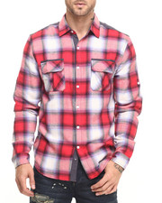 Men - Plaid Shirt with contrast yoke