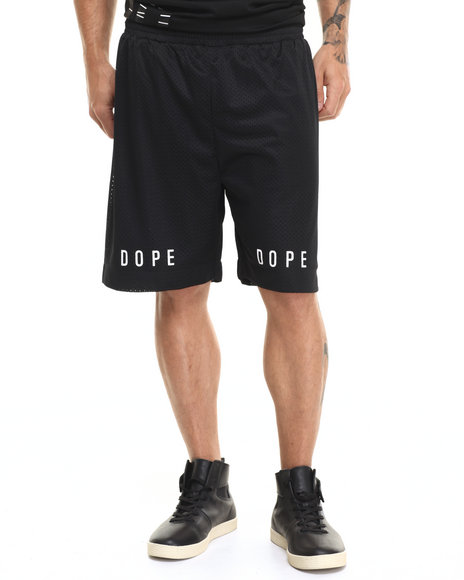 Dope - Men Black,Black Statement Basketball Shorts