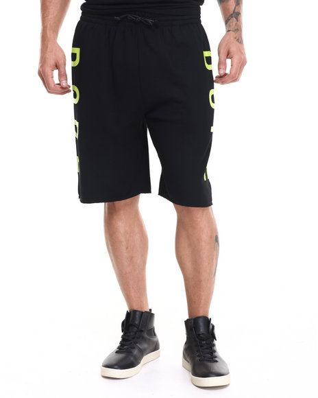 Ur-ID 224147 DOPE - Men Black Knockout Shorts