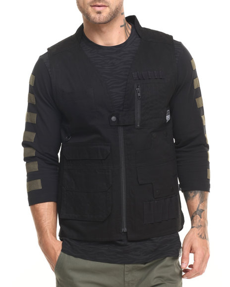 Ur-ID 224148 Pink Dolphin - Men Black Legend Army Tactical Vest