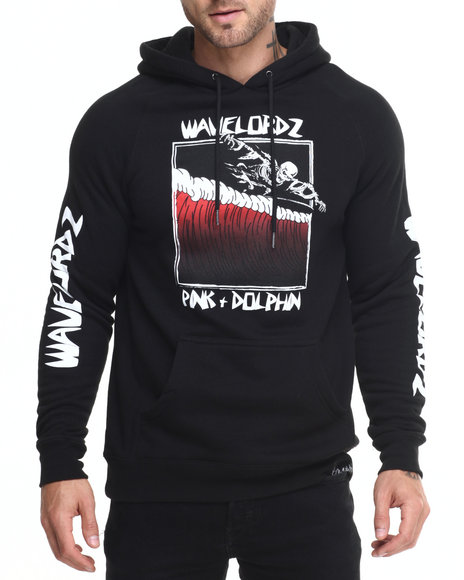 Pink Dolphin - Men Black Wavelordz Iii Pullover Hoodie
