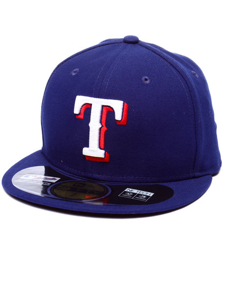 New Era - Men Blue Texas Rangers Authentic On-Field 59Fifty Fitted Cap