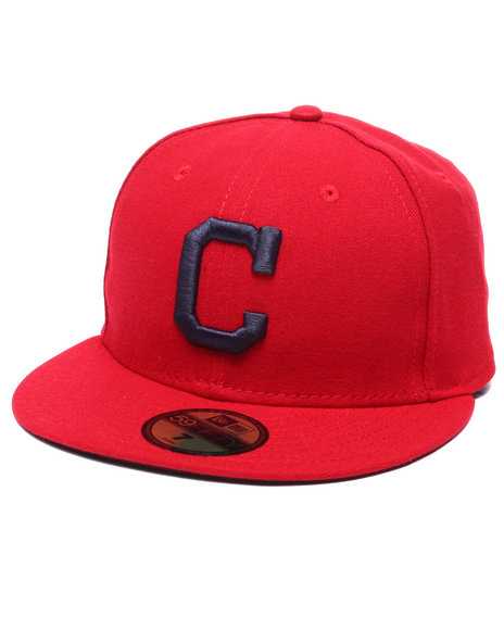 New Era - Men Red Cleveland Indians Authentic On Field 59Fifty Alternate Fitted Cap