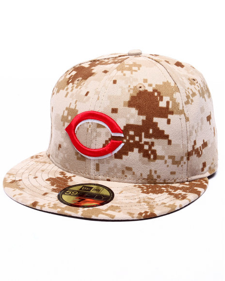 New Era - Men Camo Cincinnati Reds Authentic On-Field 59Fifty Military Fitted Cap