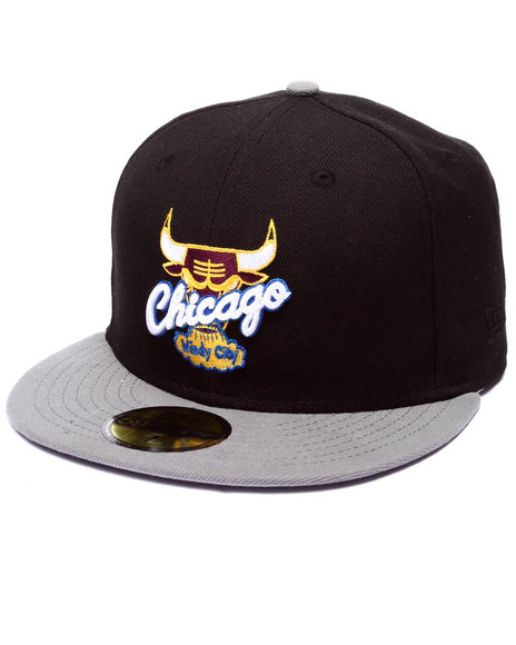 New Era - Men Black Chicago Bulls Bordeaux 2 Edition Fitted Hat - $13.99