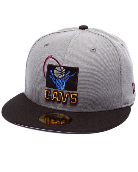 Ur-ID 224056 New Era - Men Grey Cleveland Cavaliers Bordeaux 4 Edition Fitted Hat