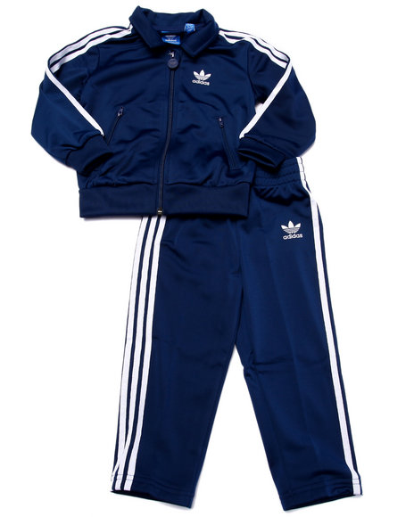 Adidas - Boys Blue Firebird Tracksuit (Infant - 4T)