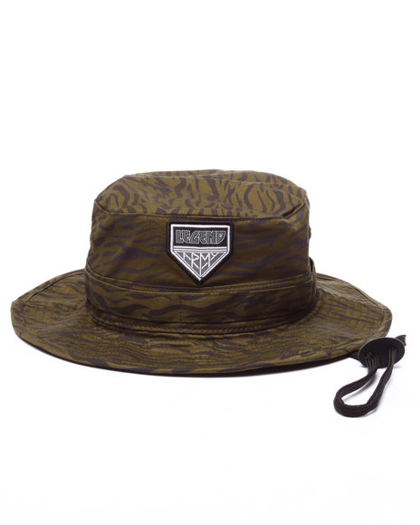 Pink Dolphin - Men Olive Legend Army Bucket Hat