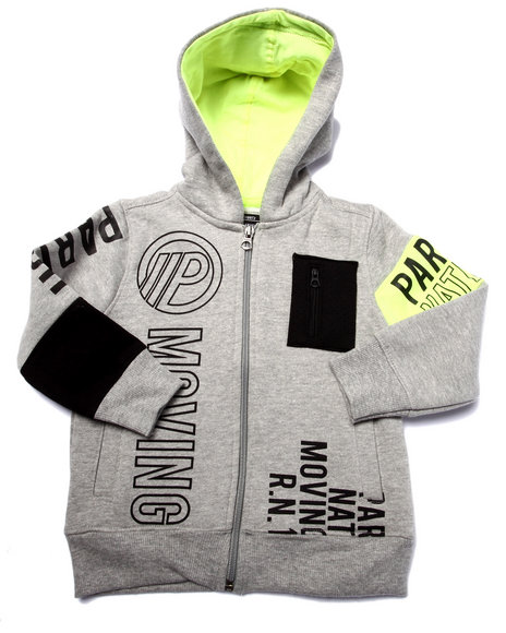 Parish - Boys Grey Full Zip Volt Graphic Hoody (2T-4T)