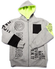 Sizes 8-20 - Big Kids - FULL ZIP VOLT GRAPHIC HOODY (8-20)