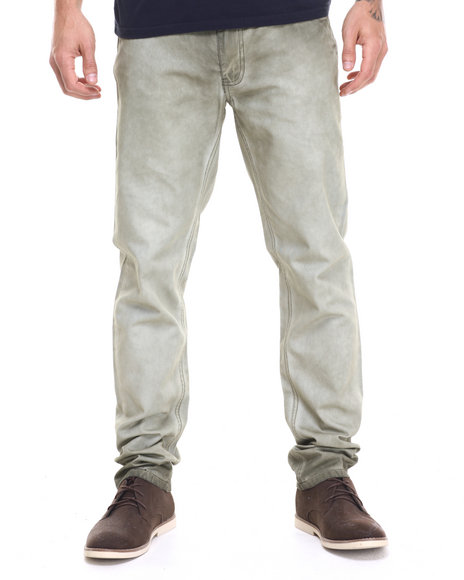Ur-ID 224116 Lee Cooper - Men Olive Olive Shadow Wash Twill Pant