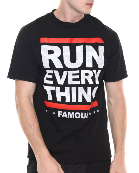 Ur-ID 224171 Famous Stars & Straps - Men Black / Smoke Run Everything Ss Tee