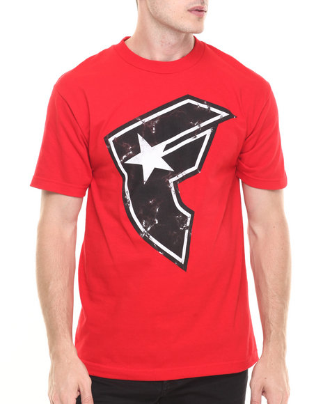 Ur-ID 224182 Famous Stars & Straps - Men Red Marble Boh Tee