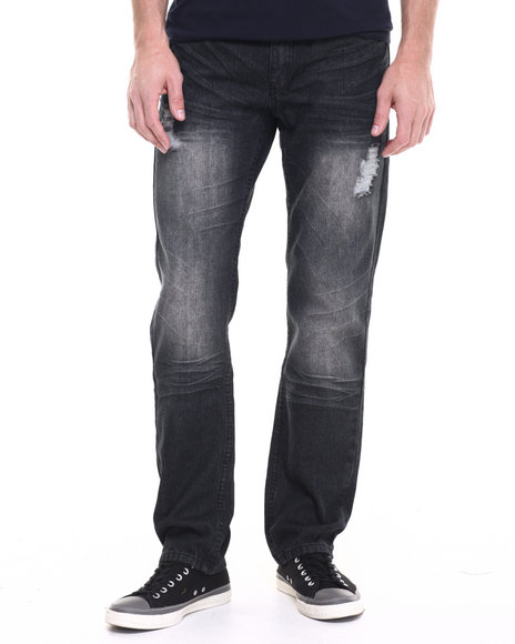 Enyce - Men Black Blast Denim Jeans - $18.99