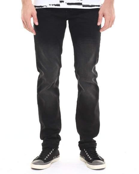 Ur-ID 224189 Lee Cooper - Men Black Owen Slim Fit Faded Black Jean