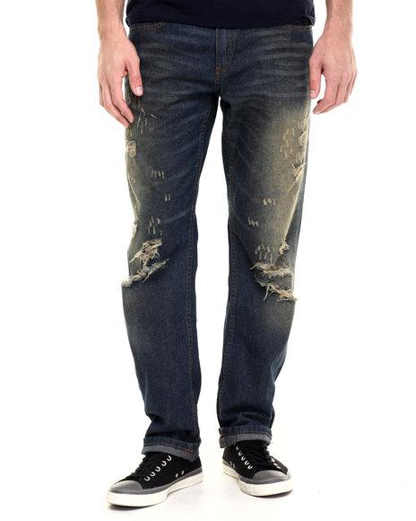 Ur-ID 224213 Enyce - Men Medium Wash Dusty Denim Jeans