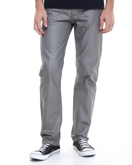 Akademiks - Men Grey Robertson Wax Coated Denim Jeans