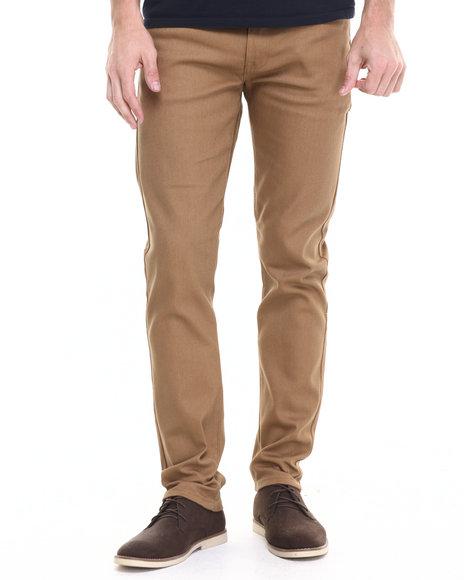 Ur-ID 224175 Akademiks - Men Tan Shady Twill Pants (Slim-Fit)