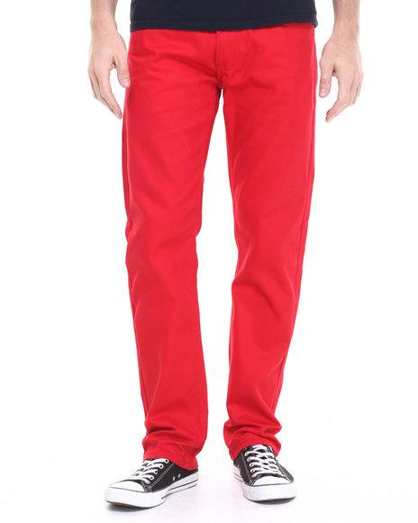 Ur-ID 224177 Akademiks - Men Red Culture Twill Pants