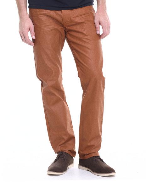 Akademiks Men Robertson Wax Coated Denim Jeans Copper 34x32