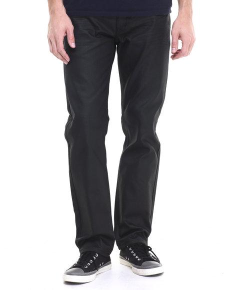 Ur-ID 224183 Akademiks - Men Black Robertson Wax Coated Denim Jeans