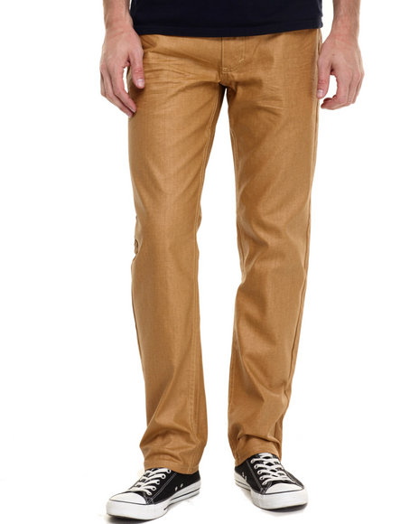 Ur-ID 224205 Akademiks - Men Wheat Robertson Wax Coated Denim Jeans
