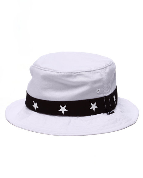 Huf - Men White 5 Star Bucket Hat
