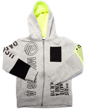 Hoodies - FULL ZIP VOLT GRAPHIC HOODY (4-7)