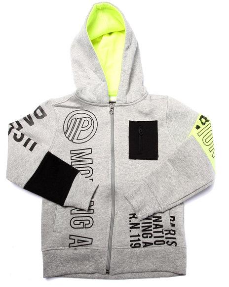 Parish - Boys Grey Full Zip Volt Graphic Hoody (4-7)