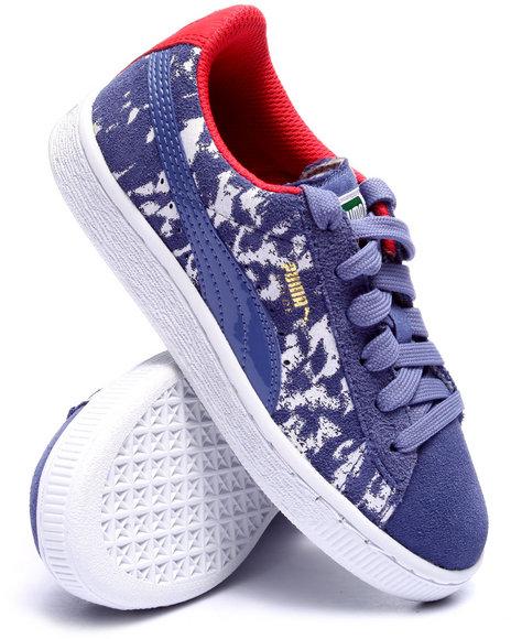 Puma - Boys Blue Suede Blur Jr Sneakers (11-7)